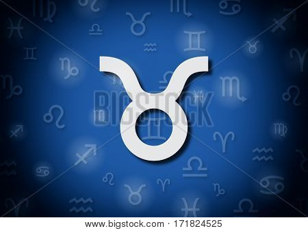 An Illustration Representing The Zodiac Sign Of Taurus