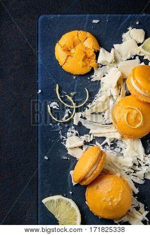 Citrus Macaroons With White Chocolate