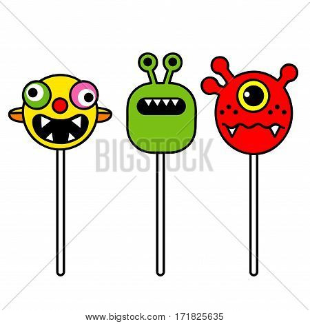 monster pop humorous lollipops booger, candy lollipops