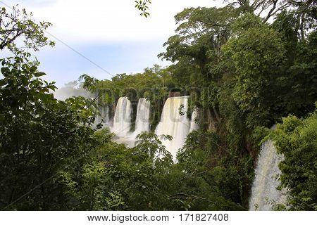 Bridge Over The River Iguacu In Brazil