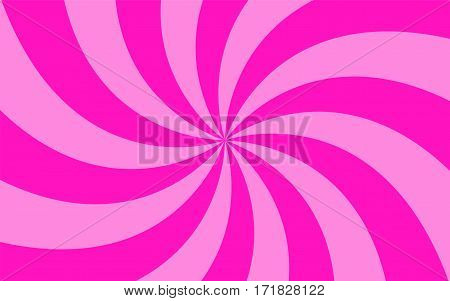 Vector illustration. Abstract background. Divergent beams in a circle. Different colors.
