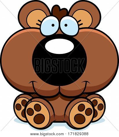 Cartoon Bear Cub Sitting