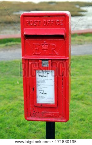 Bosham, Sussex, Uk - Feb 15Th 2017: Traditional Red British Post Office