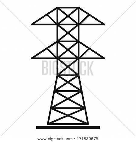 High voltage tower icon. Simple illustration of high voltage tower vector icon for web