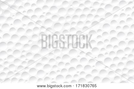 Vector illustration. Abstract background. The surface of the golf ball. Circular recesses of various sizes.