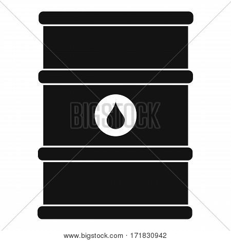 Oil barrel icon. Simple illustration of oil barrel vector icon for web