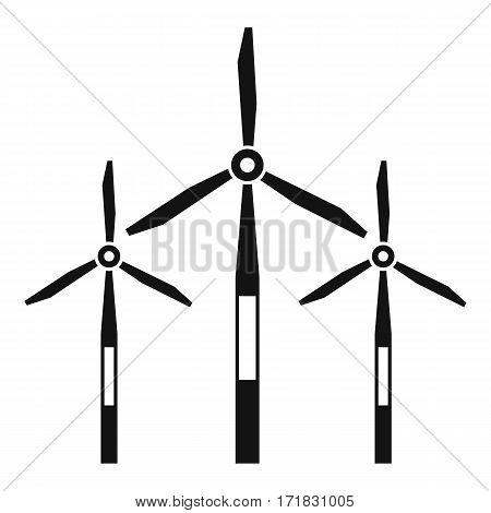 Wind generator turbines icon. Simple illustration of wind generator turbines vector icon for web