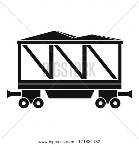 Railway wagon icon. Simple illustration of railway wagon vector icon for web