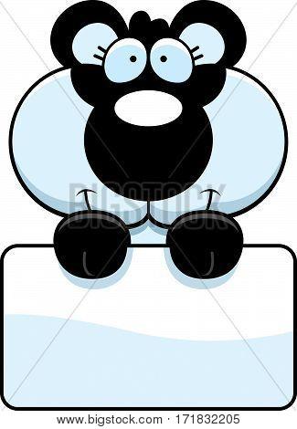 Cartoon Panda Cub Sign