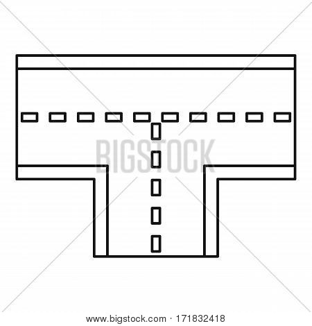 Road intersection icon. Outline illustration of road intersection vector icon for web