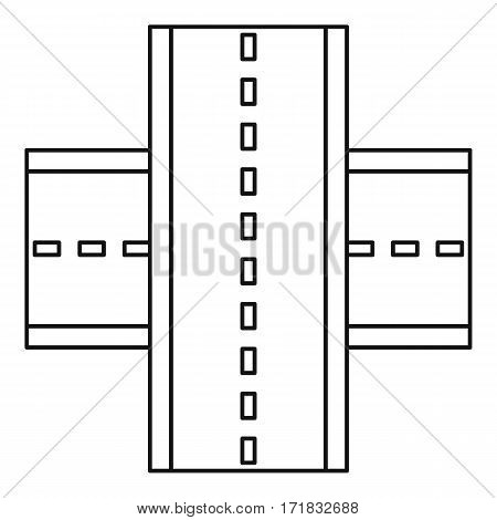 Multiple level highway icon. Outline illustration of multiple level highway vector icon for web