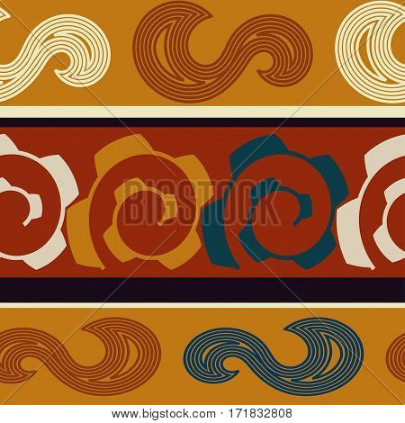 Colored seamless texture Indian. Bright abstract pattern.