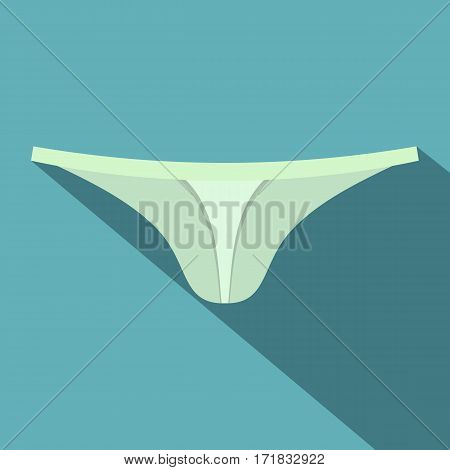 Female thongs icon. Flat illustration of female thongs vector icon for web isolated on baby blue background