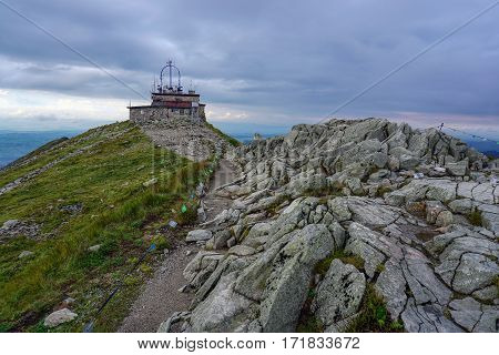 Meteorological observatory on Mount Kasprowy. Tatra mountains. Poland