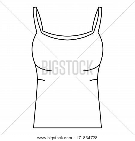 Tank top icon. Outline illustration of tank top vector icon for web