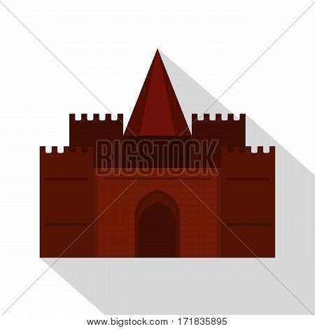 Medieval palace icon. Flat illustration of medieval palace vector icon for web isolated on white background