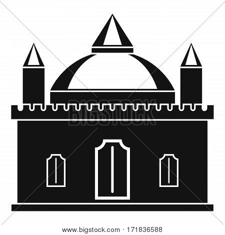 Royal castle icon. Simple illustration of royal castle vector icon for web