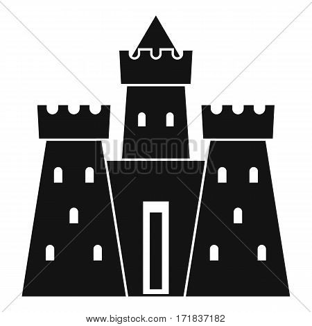 Ancient castle palace icon. Simple illustration of ancient castle palace vector icon for web