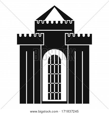Medieval palace icon. Simple illustration of medieval palace vector icon for web