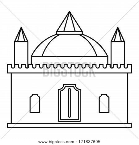 Medieval palace icon. Outline illustration of medieval palace vector icon for web