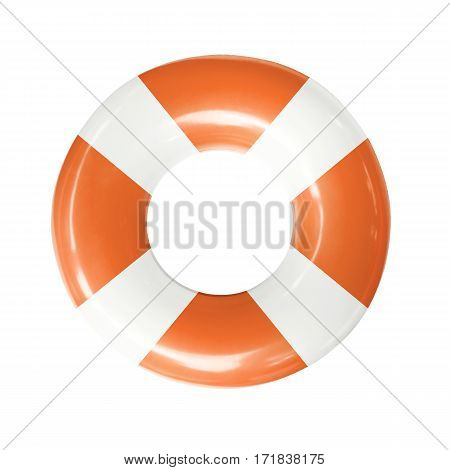 Life buoy or swim ring isolated on white background with clipping path.