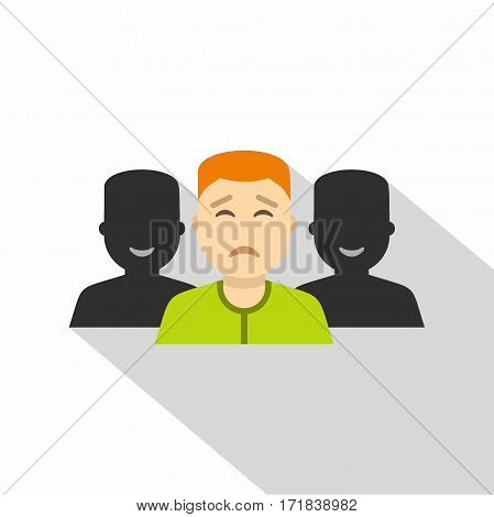 Social icon. Flat illustration of social vector icon for web isolated on white background