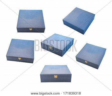 gift box premium open and close collection empty different angle view set isolated on white
