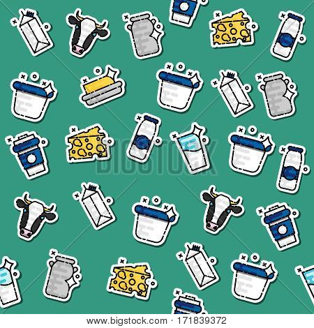 Colored milk pattern. Colorful background. Vector illustration EPS 10