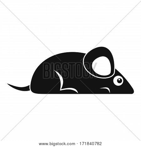 Pet mouse icon. Simple illustration of pet mouse vector icon for web