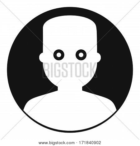 Man in the dark icon. Simple illustration of man in the dark vector icon for web