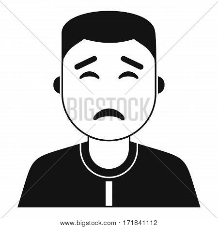 Asian man icon. Simple illustration of asian man vector icon for web