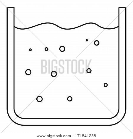 Glassware with liquid icon. Outline illustration of glassware with liquid vector icon for web