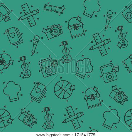 Hobby icon pattern. Vector illustration EPS 10