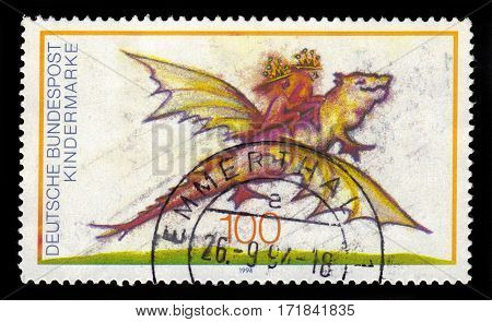 GERMANY - CIRCA 1994: a stamp printed in Germany shows legendary creature from the fairy tales, series for us, children, circa 1994
