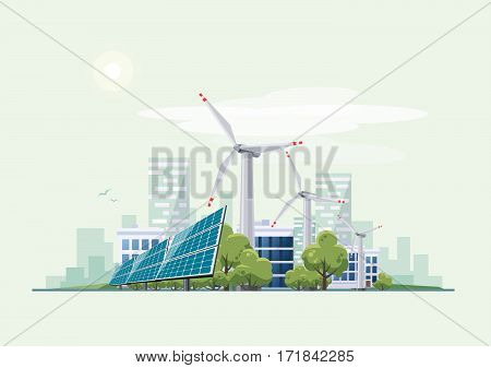 Green Eco City Urban Theme