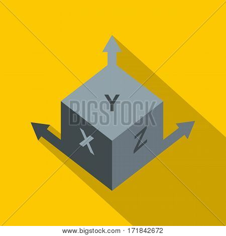 Area or size dimension icon. Flat illustration of area or size dimension vector icon for web isolated on yellow background
