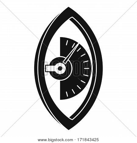 Hand power meter icon. Simple illustration of hand power meter vector icon for web