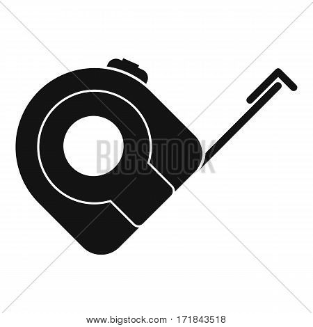 Roulette construction tool icon. Simple illustration of roulette construction tool vector icon for web