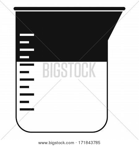 Measuring cup icon. Simple illustration of measuring cup vector icon for web