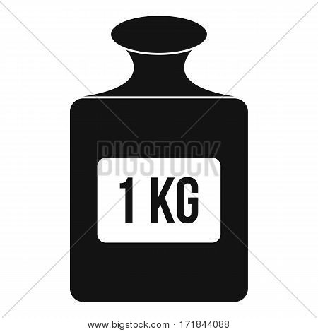 One kilogram weight icon. Simple illustration of one kilogram weight vector icon for web