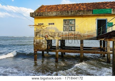 House On Stilts In The Open Sea
