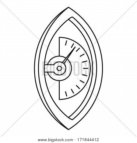 Hand dynamometer icon. Outline illustration of hand dynamometer vector icon for web