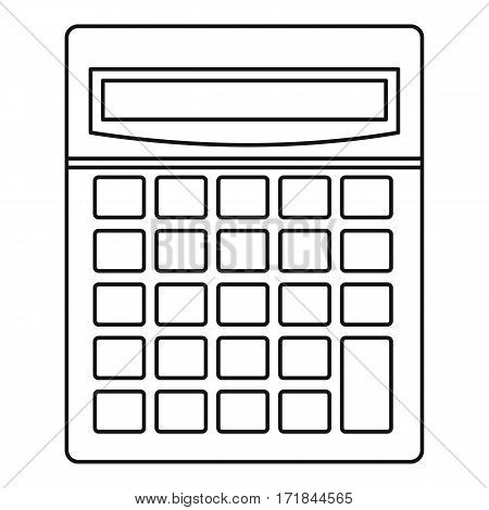 Calculator math device icon. Outline illustration of c alculator math device vector icon for web
