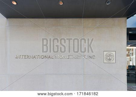 WASHINGTON DC, USA - 14 MARCH 2014: International Monetary Fund (IMF) Headquarters in Washington D.C.