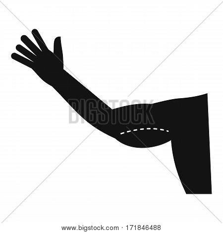 Flabby arm cosmetic correction icon. Simple illustration of vector icon for web