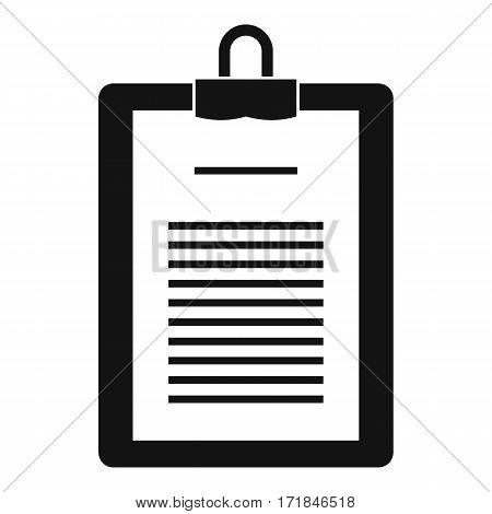 Clipboard with checklist icon. Simple illustration of clipboard with checklist vector icon for web