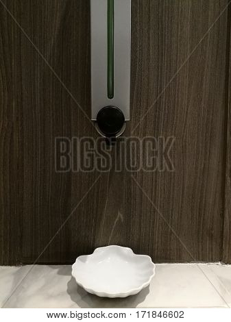 Automatic Soap Dispenser in toilet at hotel or department store Liquid soap container