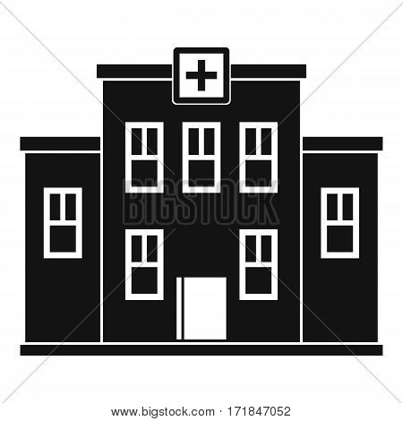 City hospital building icon. Simple illustration of city hospital building i vector icon for web