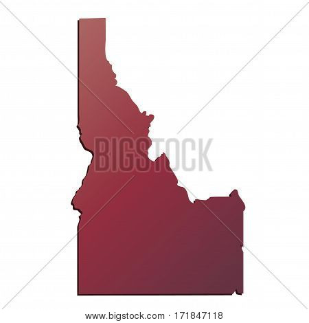 Autumn Gradient Idaho (USA) State map with shadow