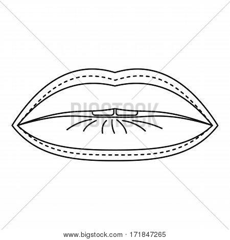 Plastic surgeon of lips icon. Outline illustration of plastic surgeon of lips vector icon for web